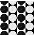 black and white pattern with speckled circles vector image