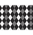 Black white gray argyle textile seamless pattern vector image