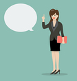 Business woman talking vector image
