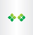 green icon square leaf logo elements vector image