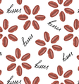 love flower seamless pattern vector image