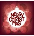 Merry Christmas magical card design vector image