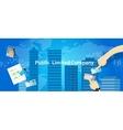 PLC Public Limited company vector image