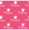 Princess Crown Seamless Pattern Background vector image