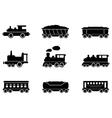 set train icons vector image