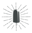 Simple vintage retro classic ice cream icon vector image