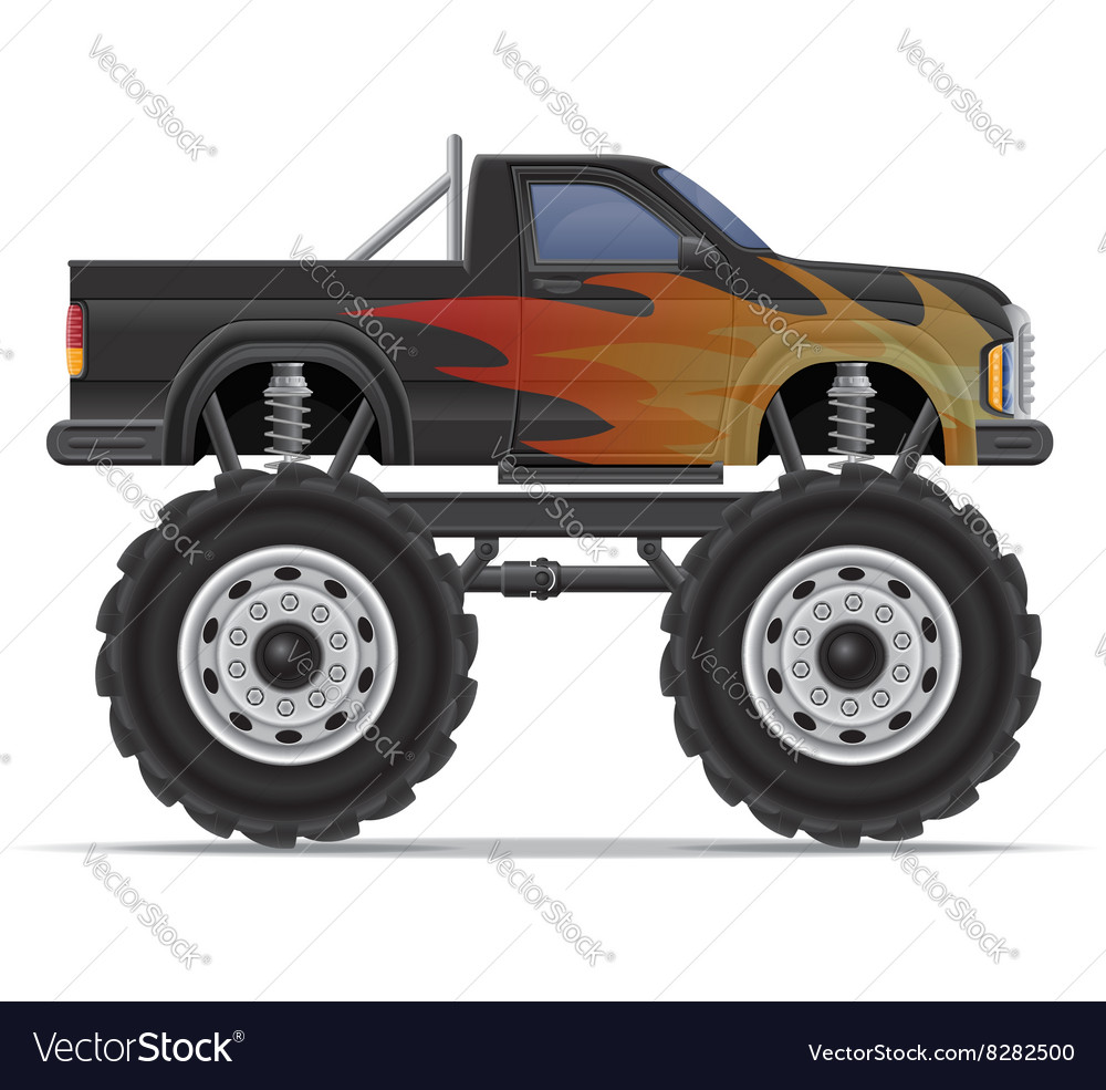 Monster truck 01 vector