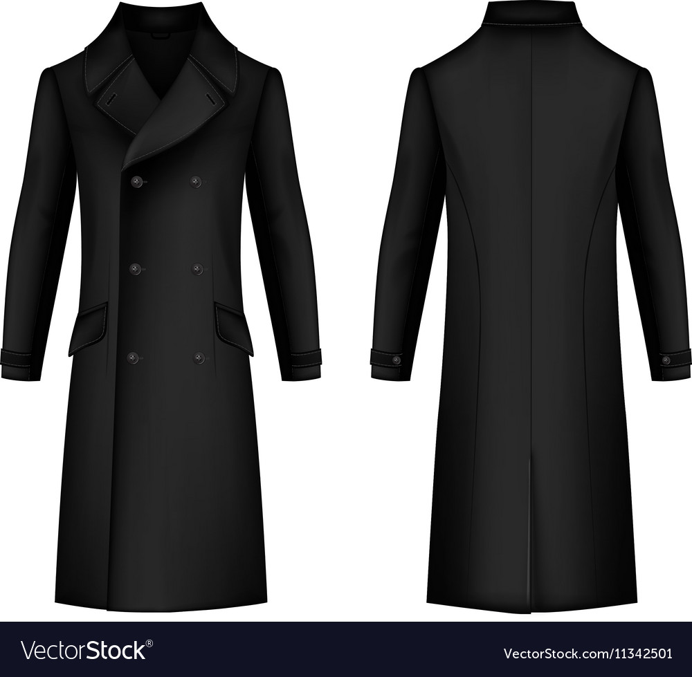Man coat outlined template vector