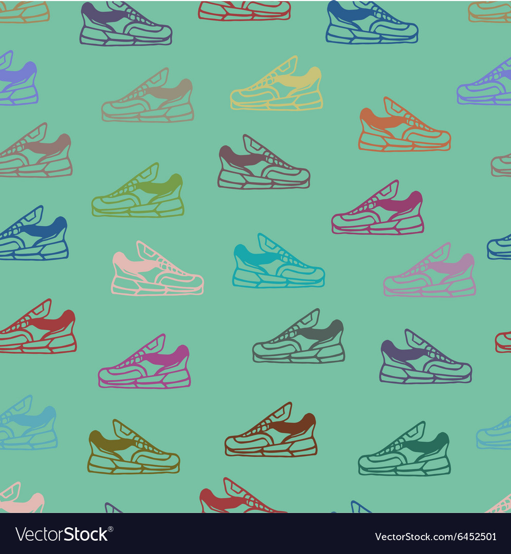 Shoes seamless pattern background vector