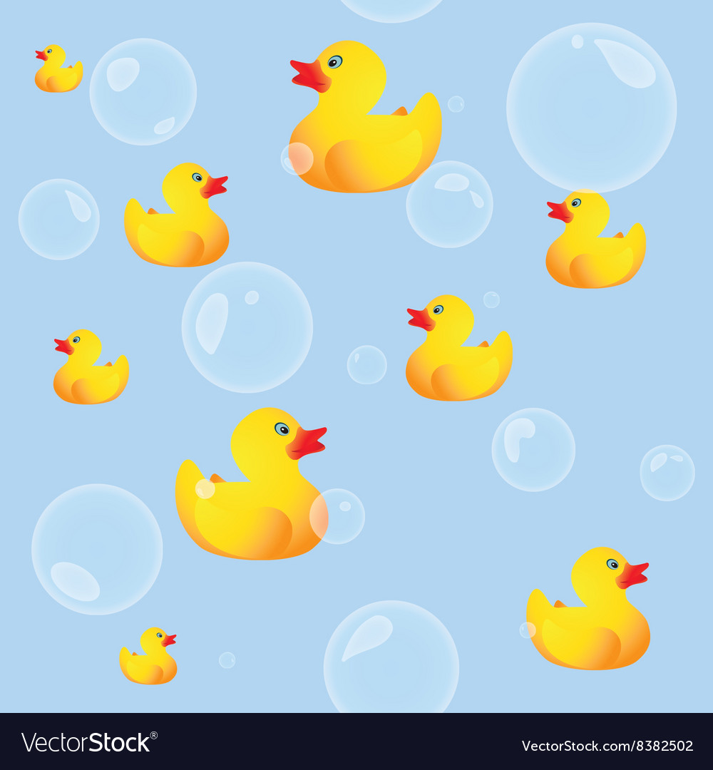 Rubber ducks vector