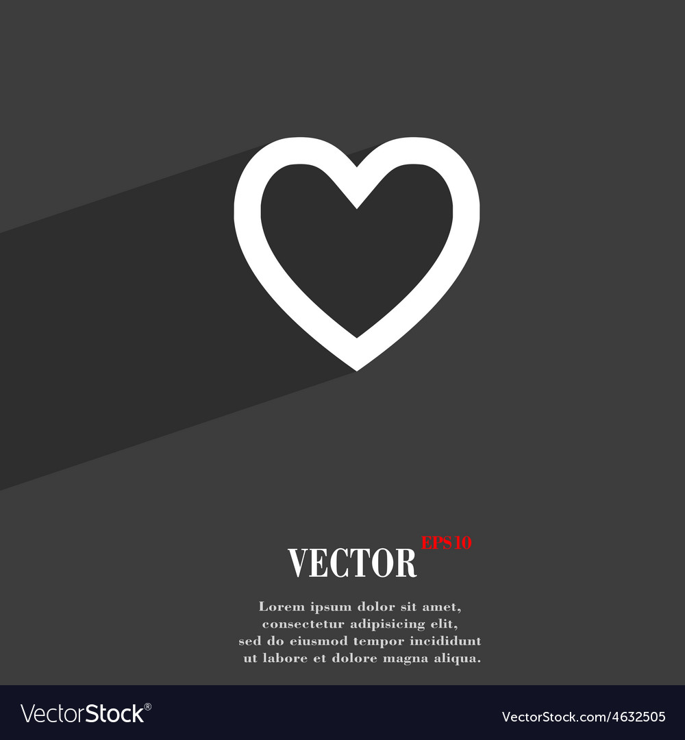 Medical heart love icon symbol flat modern web vector
