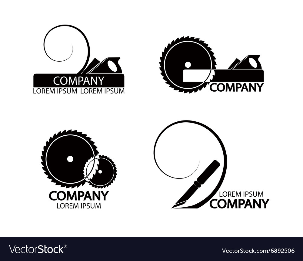 A set of logos emblems of joiners tools vector