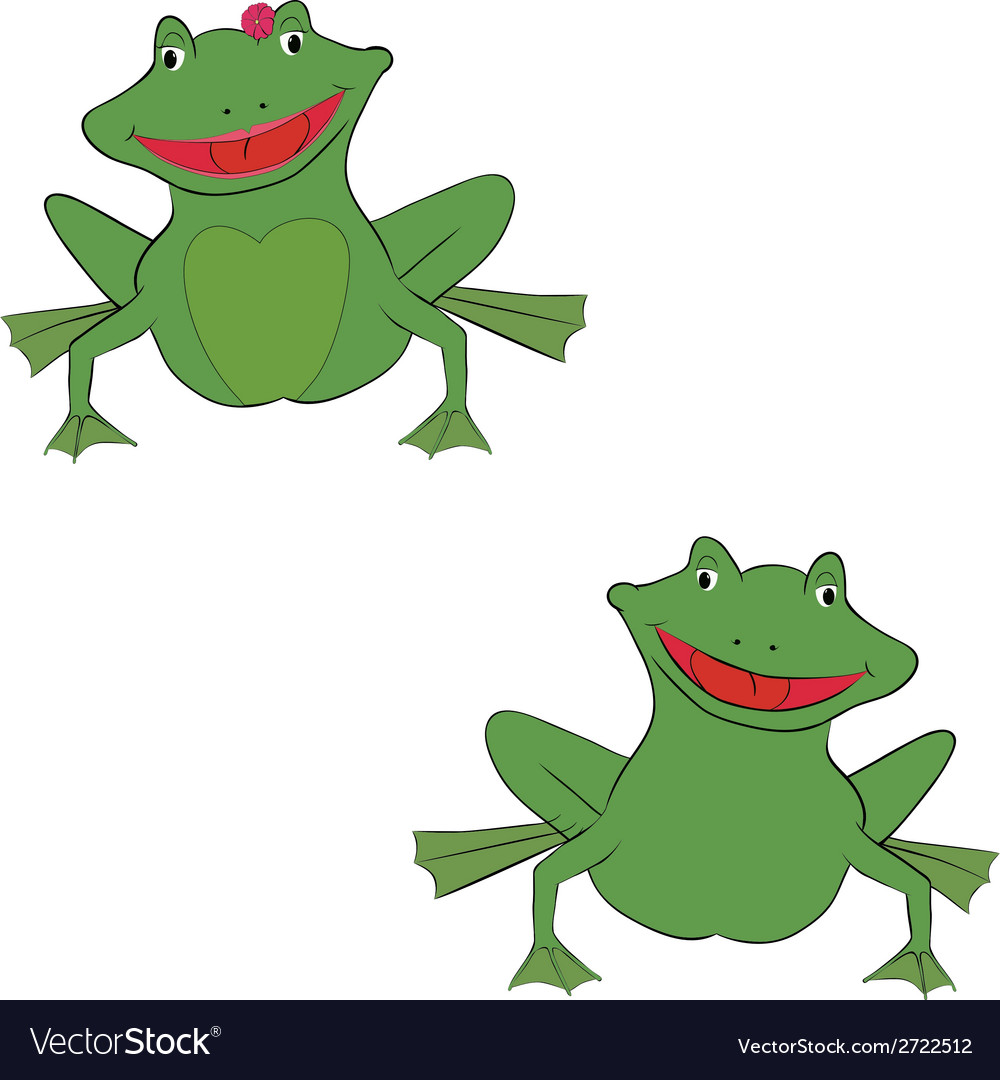 Pair of frogs vector