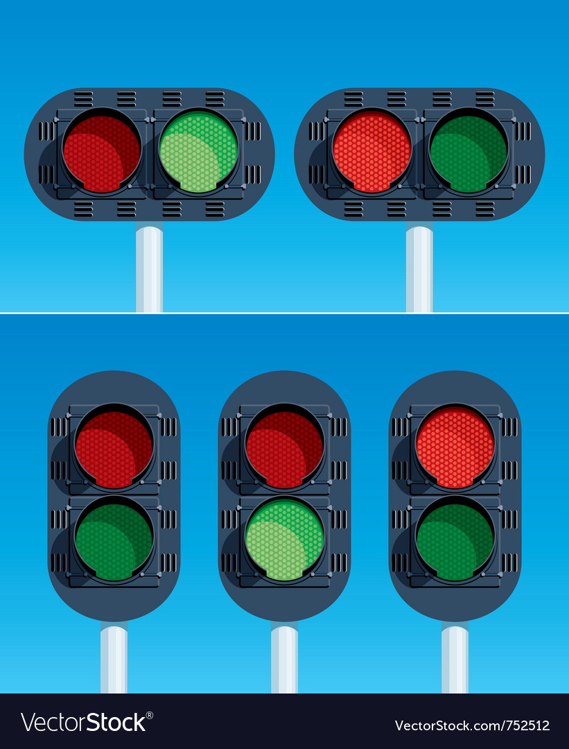 Railway traffic lights vector