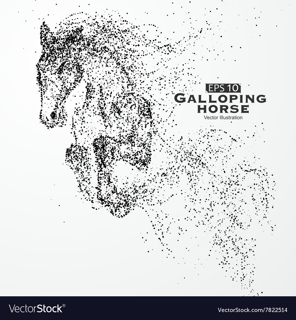 Galloping horse vector