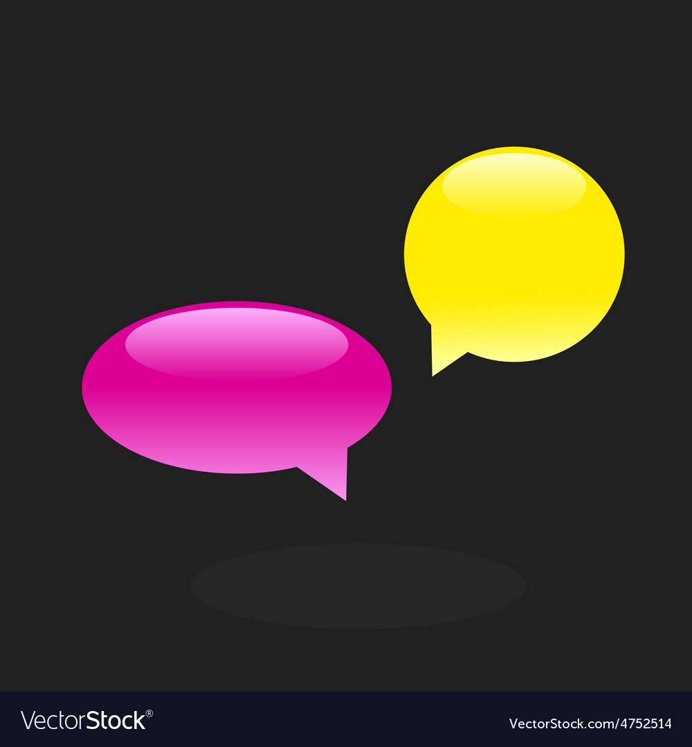 Set of chat icons speech bubbles vector