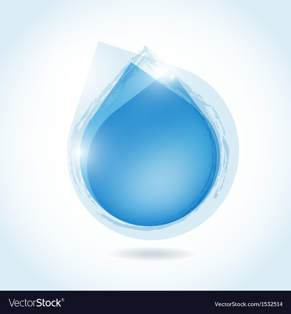 Stylish digital water design with water drops vector