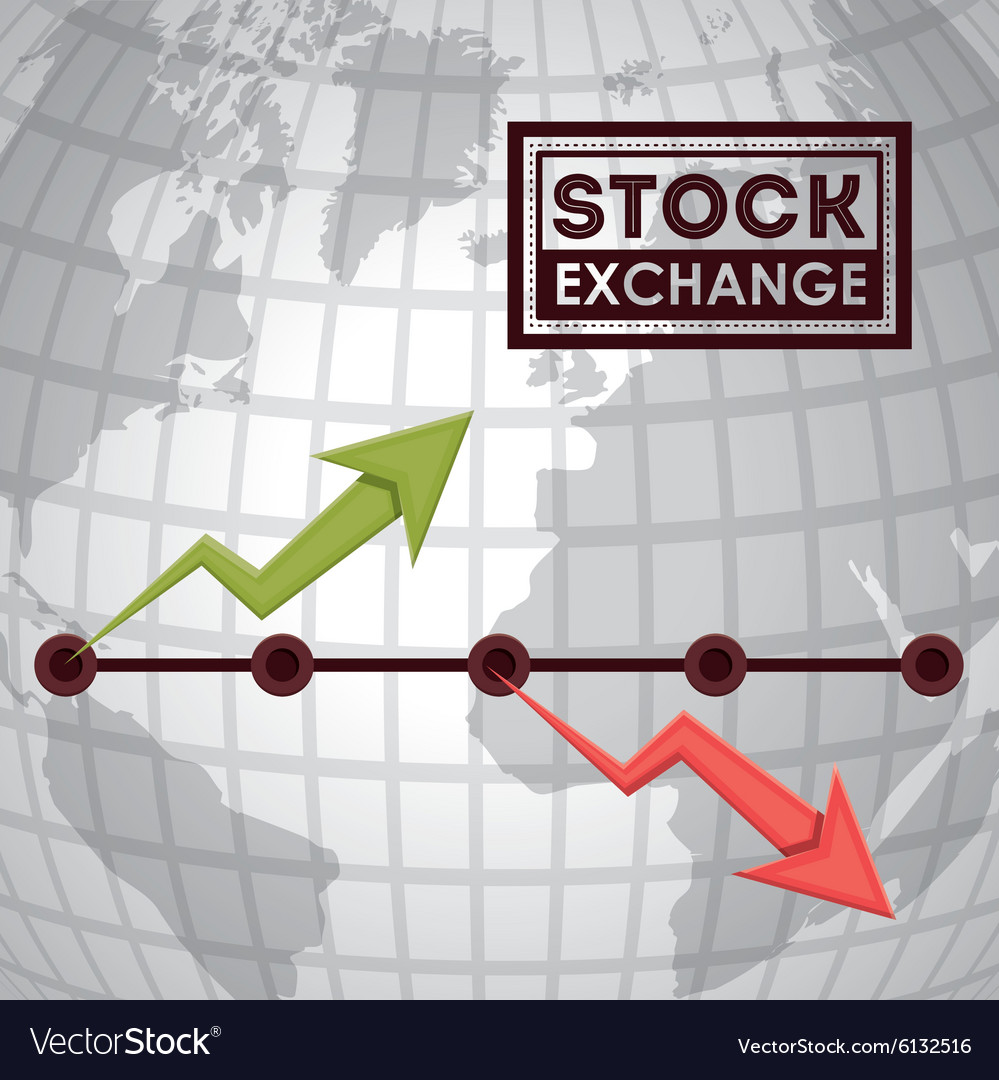 Stock exchange design vector
