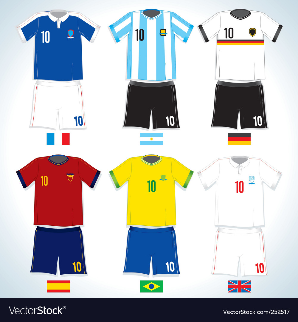 Soccer uniform vector