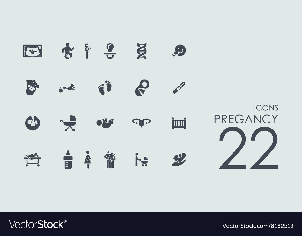 Set of pregancy icons vector