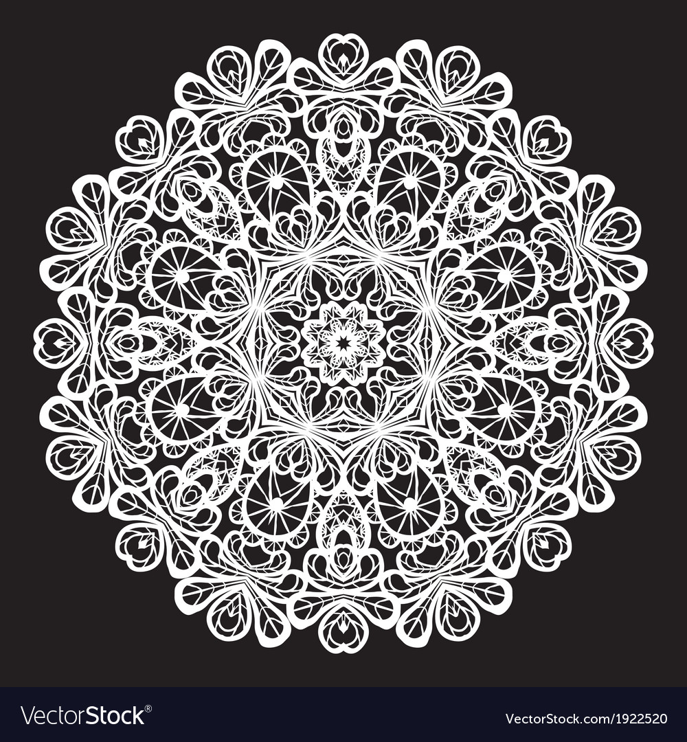 Lace round 4 380 vector