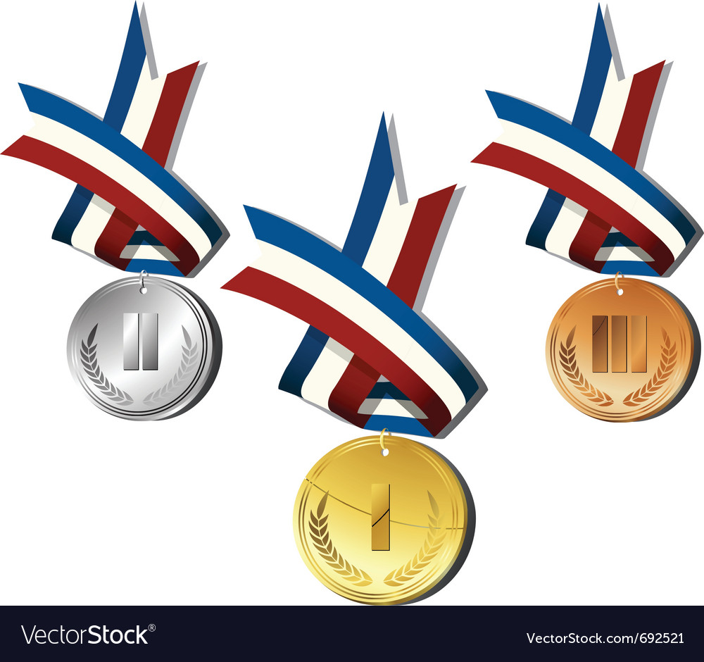 Medals icon vector