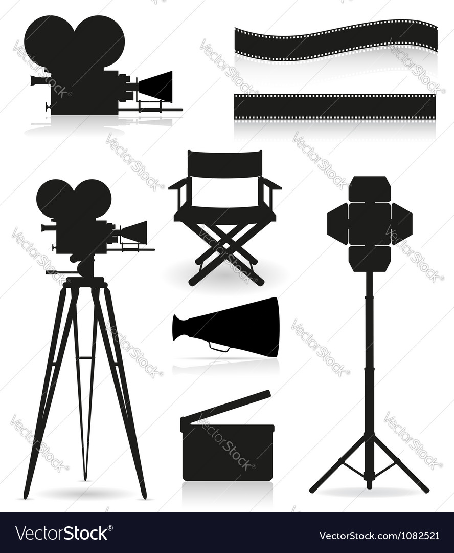 Set icons cinema 05 vector