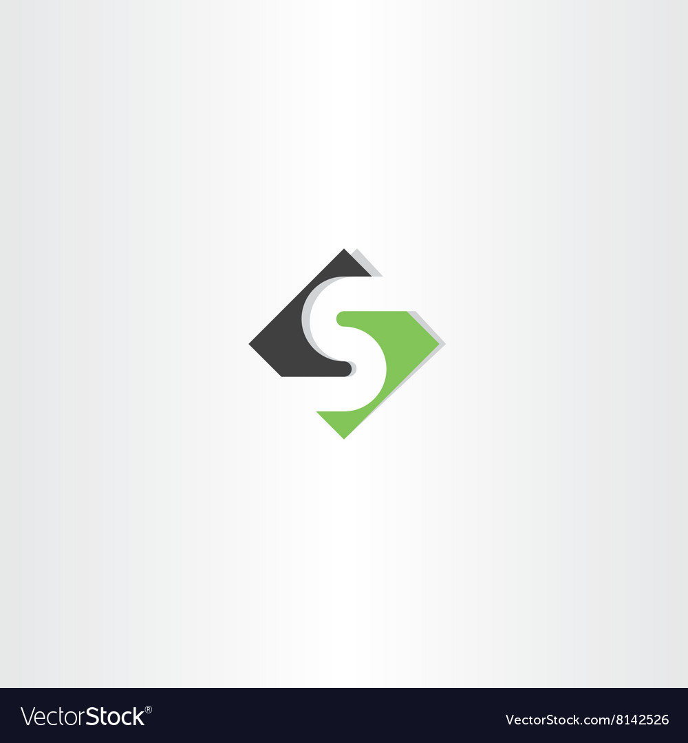 Green black logo letter s logotype icon s vector