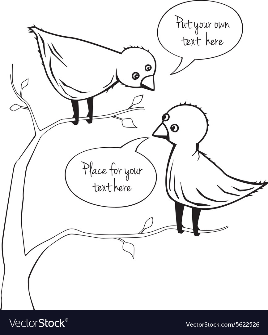 Two birds talking vector