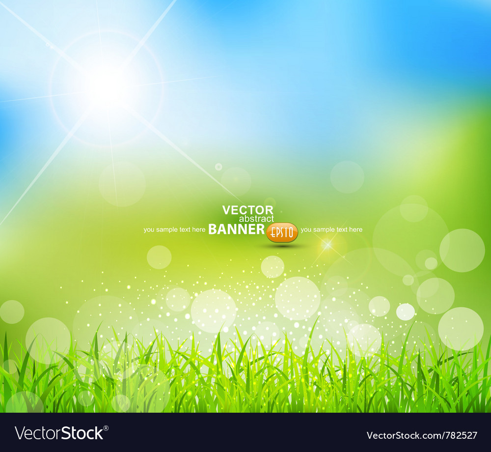 Natural green background vector