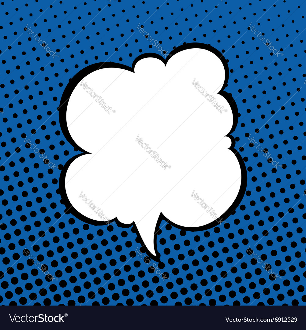 Speech bubble on pop art background vector