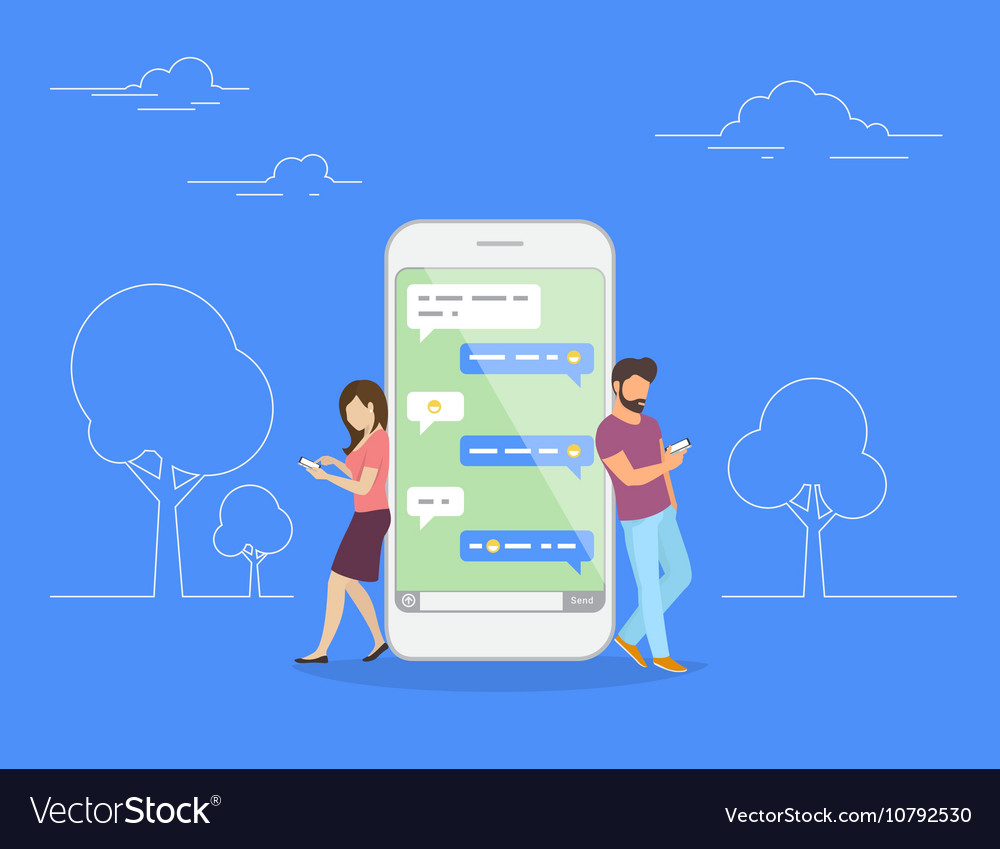 Chat talk concept vector