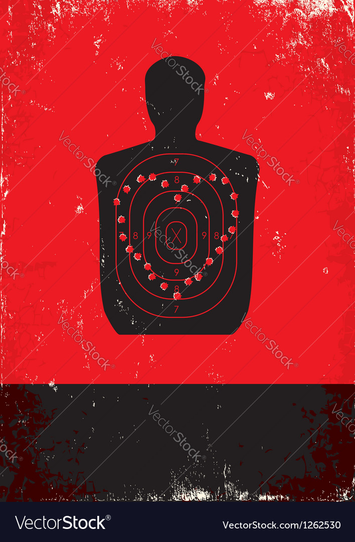 Red and black poster with target vector