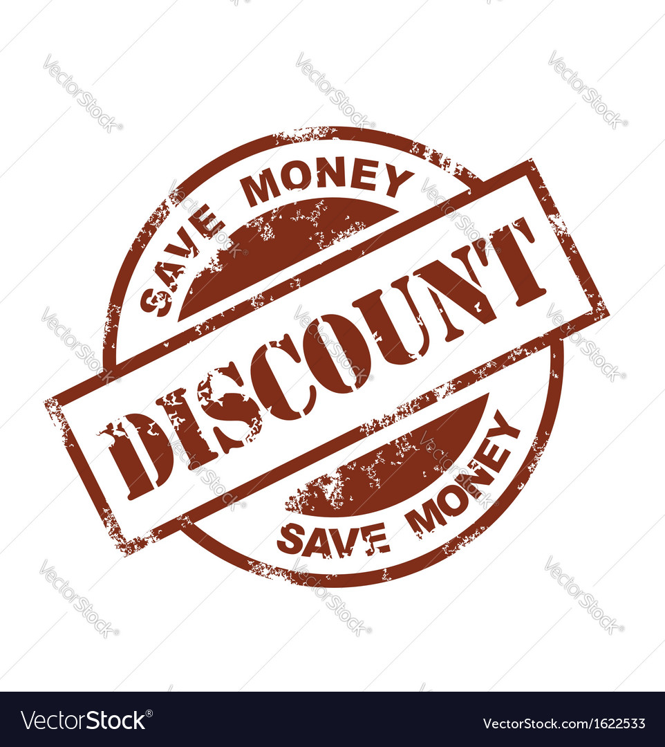 Discount stamp vector