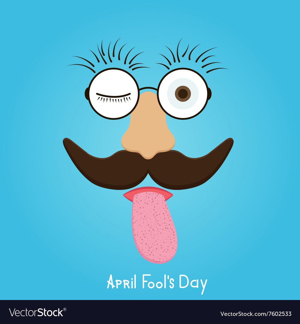 Modern april fools day vector