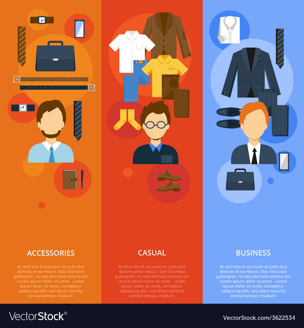 Business man clothes vector