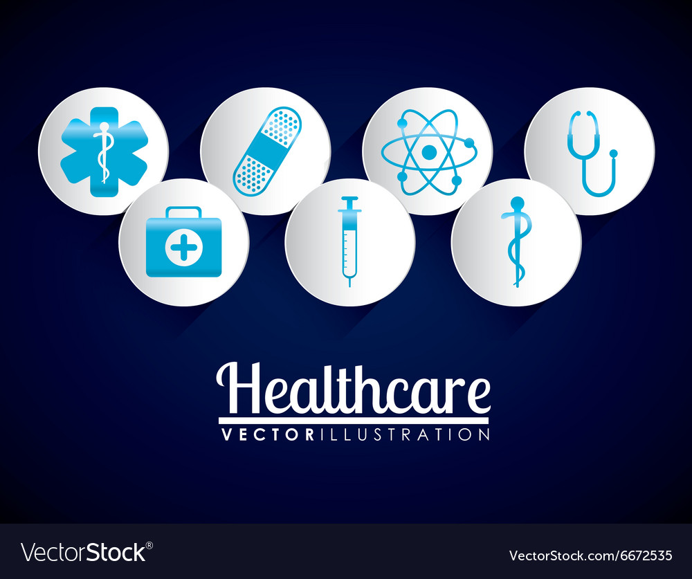 Medical healthcare icons vector