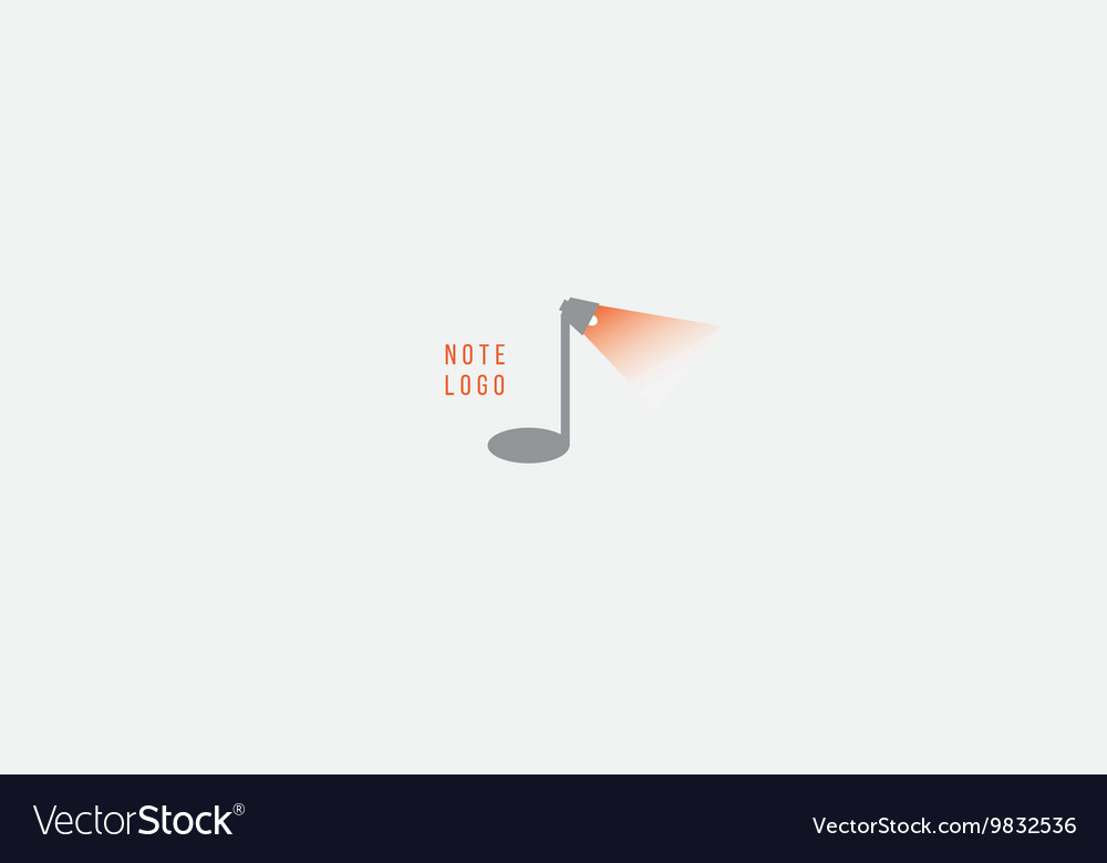 Creative musical note logo vector