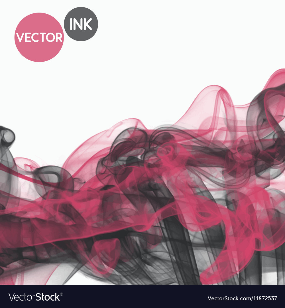 Abstract ink pink grey mix cloud ink vector