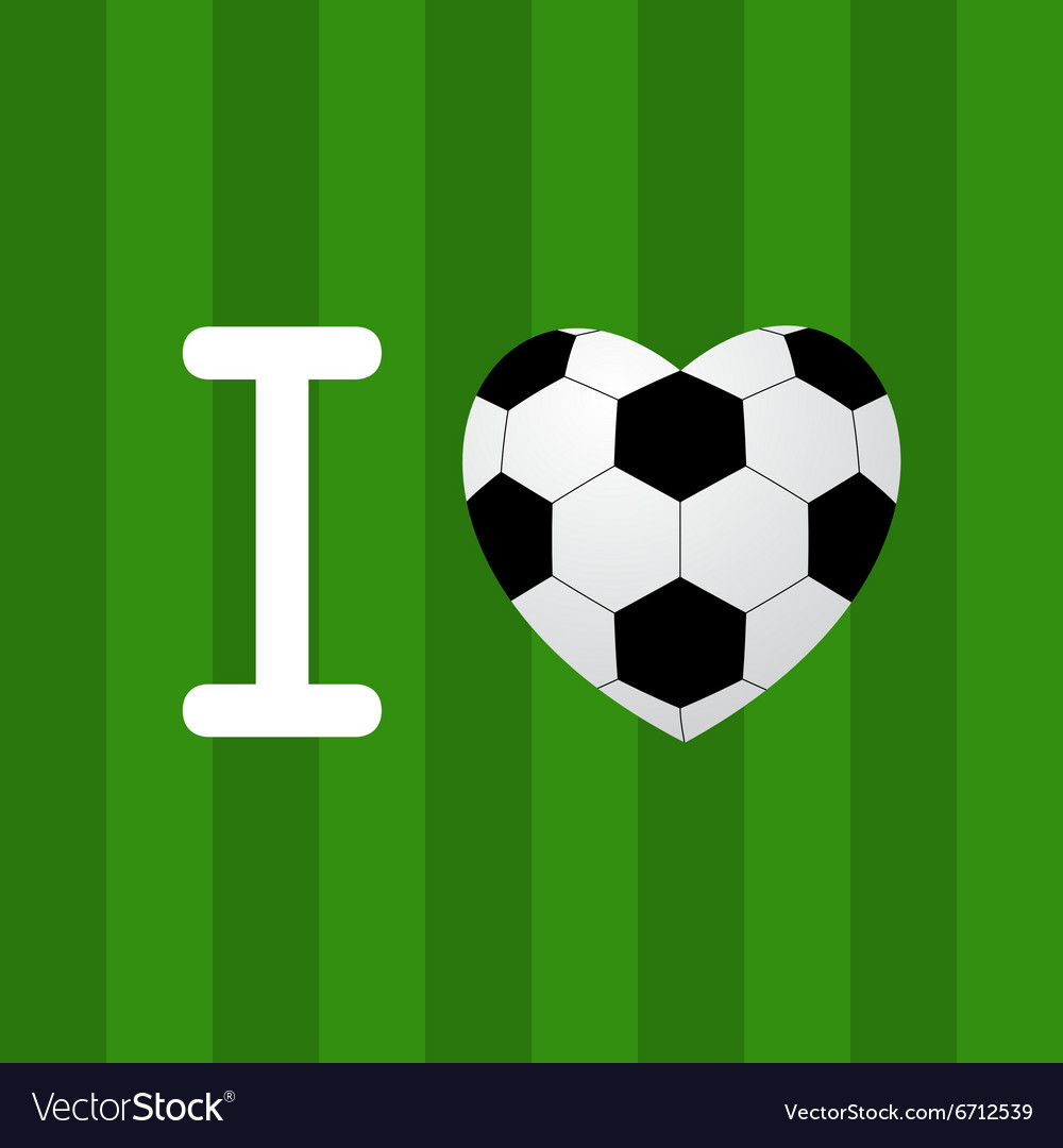 Soccer ball heart vector