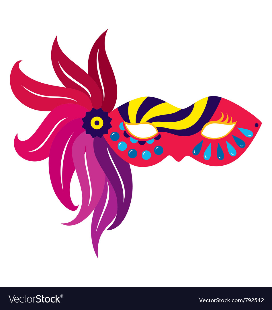 Mardi gras mask vector
