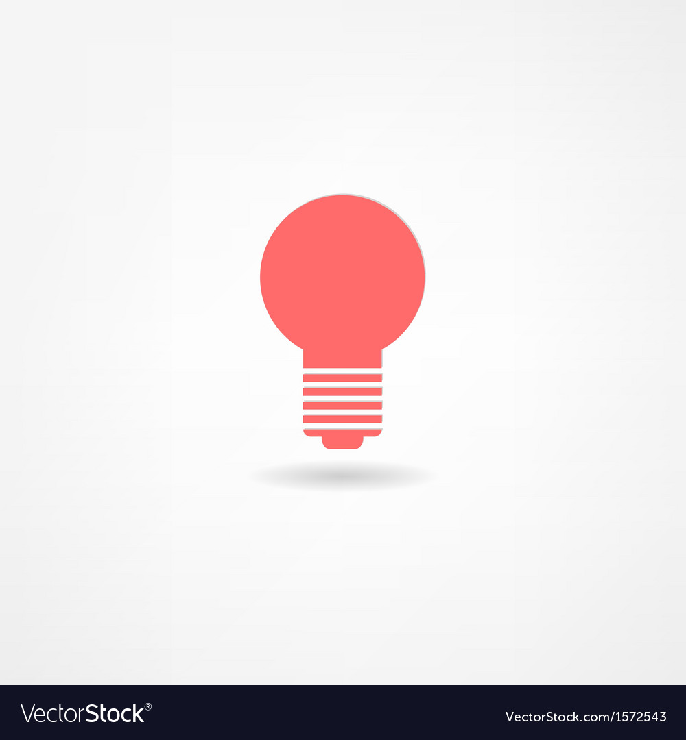Lightbulb icon vector