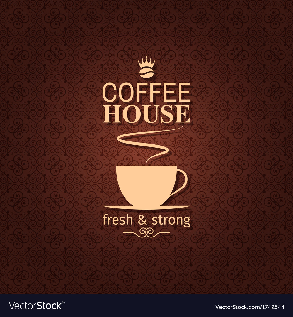 Coffee cup vintage label background vector
