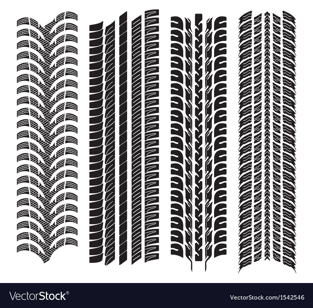 Various tyre treads vector
