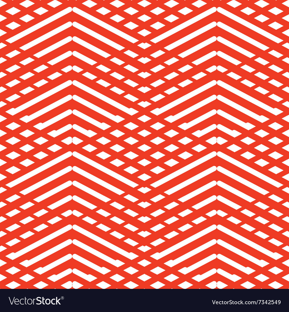 Tile red and white pattern or background wallpaper vector