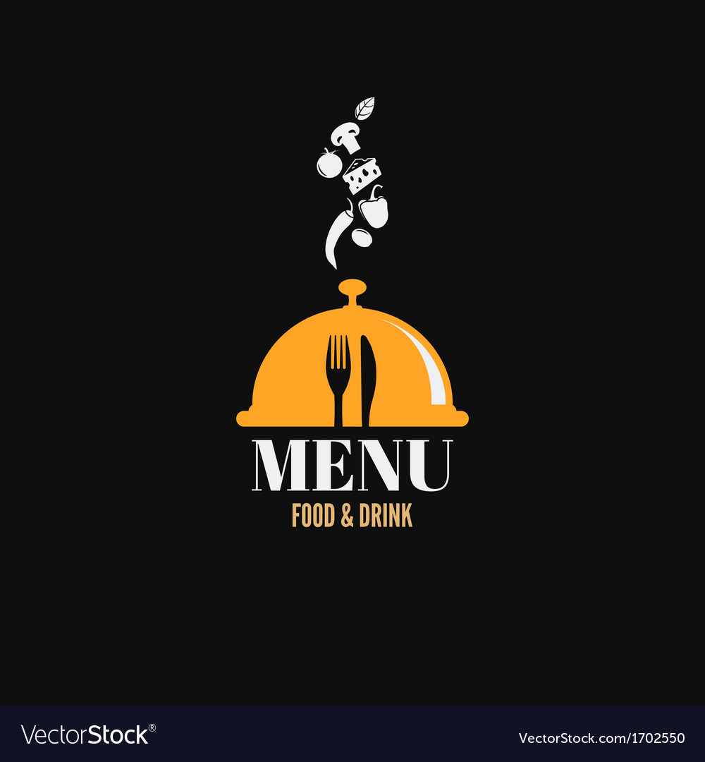 Menu design food drink dishes concept vector