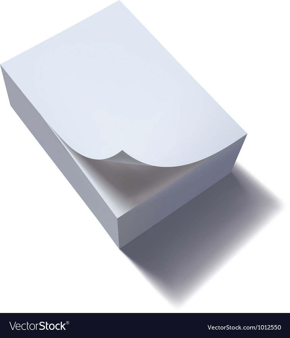 Paper stack with curl vector