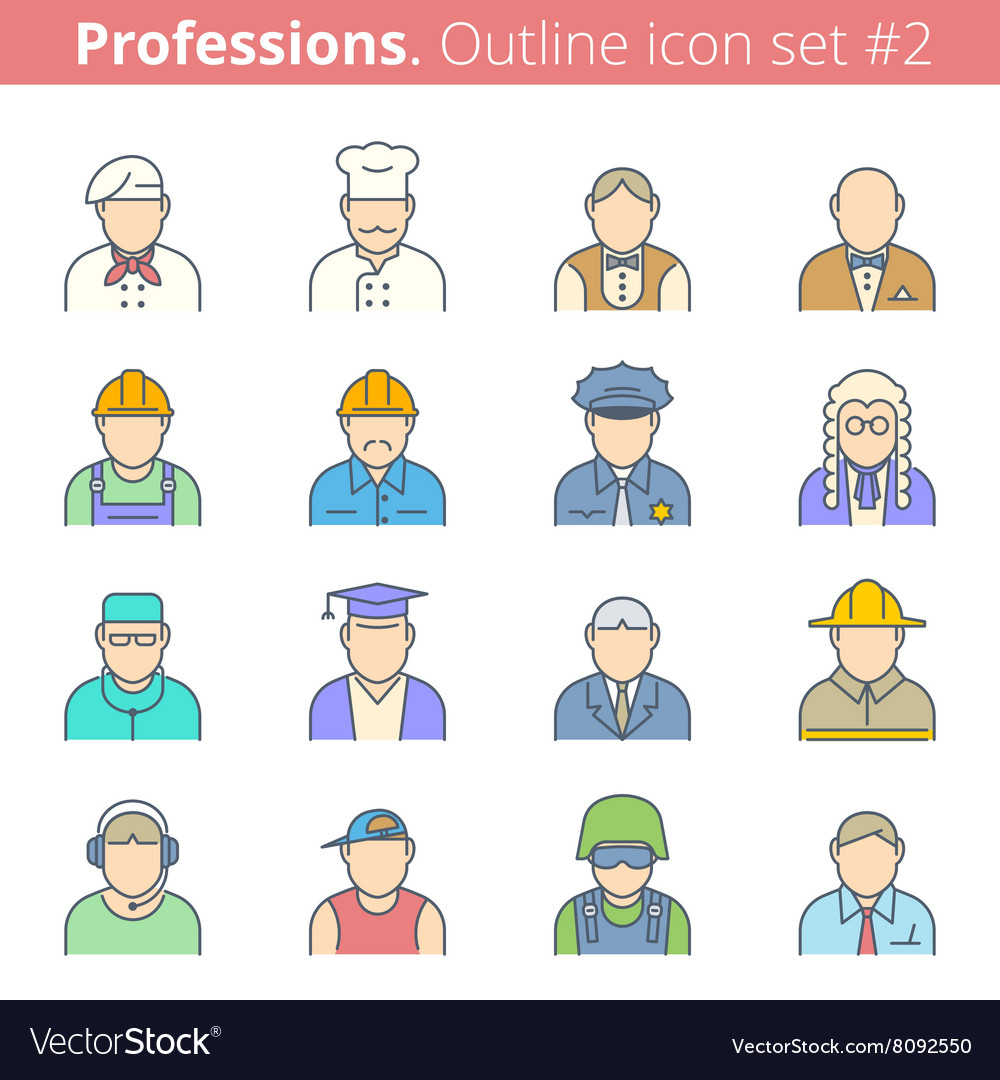 Professions avatars vector