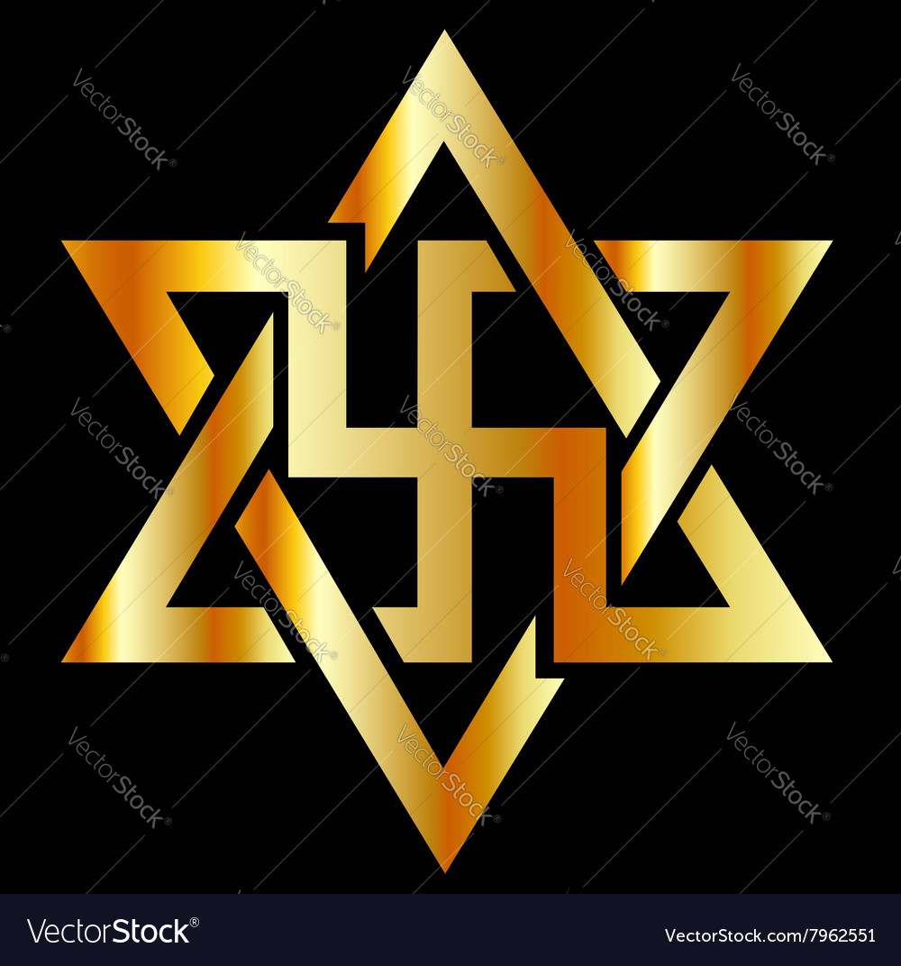 Raelians symbol in gold vector