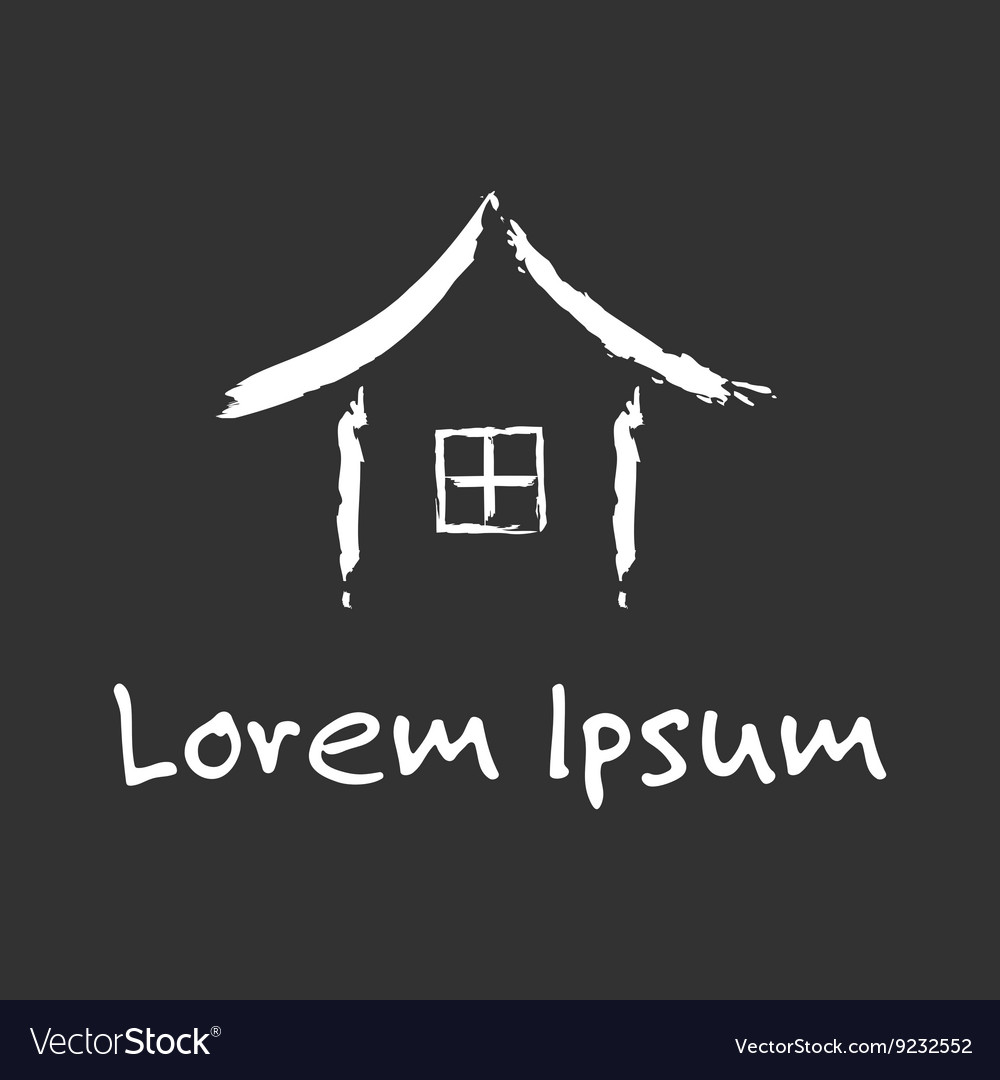 Chinese house logo vector